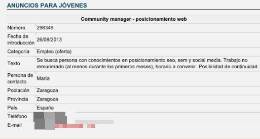 Oferta trabajo Community Manager en Zaragoza