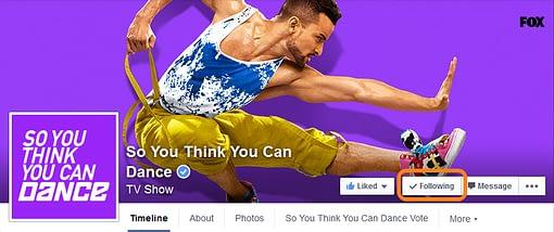 Casilla Following en Facebook