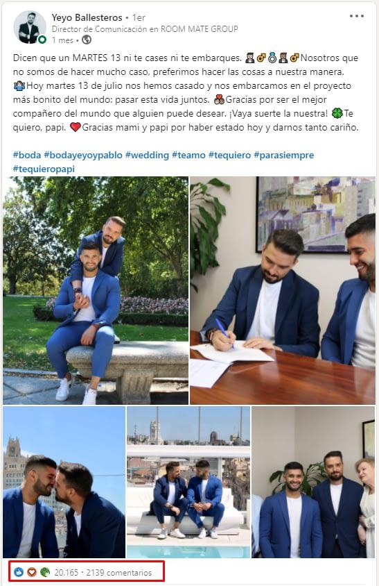 Captura post Yeyo Ballesteros en Linkedin