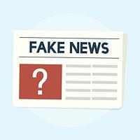 Illustration of fake news concept