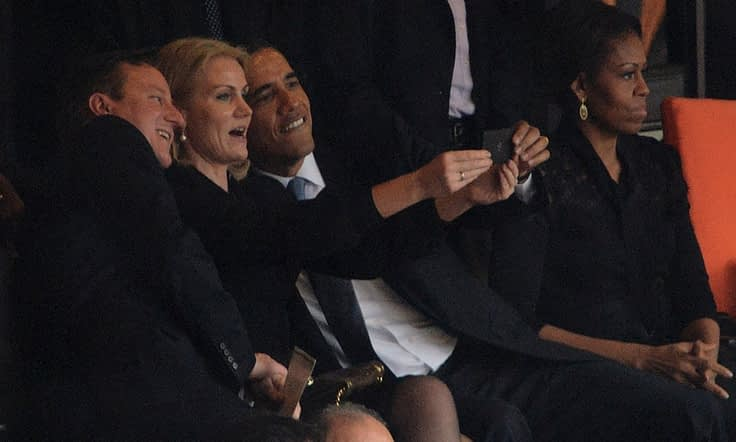 Selfie de Obama en el Funeral de Mandela