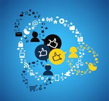 Imagen con diferentes iconos utilizados para representar concursos y promociones en redes sociales como Facebook o Twitter