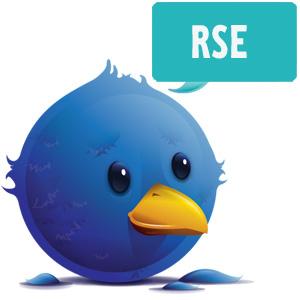 Logotipo de Twitter + RSE